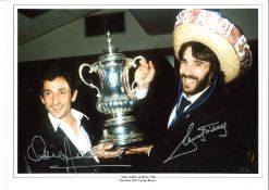 Ossie Ardiles and Ricky Villa Dual Tottenham Signed 16 x 12 inch football photo. This item is from