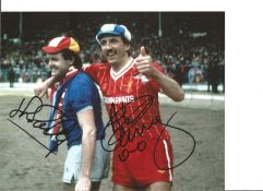Alan Kennedy and John Bailey Everton Signed 10 x 8 inch football photo. This item is from the