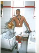 Ian Wright Arsenal Signed 12 x 8 inch football photo. This item is from the stock of www.