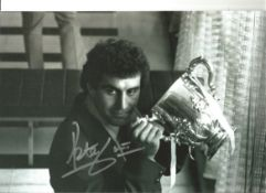 Peter Shilton Notts Forest Signed 12 x 8 inch football photo. This item is from the stock of www.