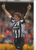 Peter Beardsley Newcastle Signed 12 x 8 inch football photo. This item is from the stock of www.