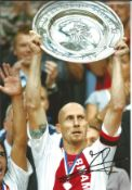Jaap Stam Ajax signed 12 x 8 football colour photo . This item is from the stock of www.
