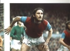 Frank Lampard senior West Ham Signed 12 x 8 inch colour football photo. This item is from the