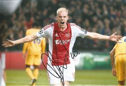 Davy Klaassen Ajax signed 12 x 8 football colour photo . This item is from the stock of www.