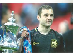 Shaun Maloney Wigan Signed 12x 8 inch football photo. This item is from the stock of www.