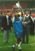 Frank Sinclair Chelsea Signed 12 x 8 inch football photo. This item is from the stock of www.