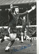 Alan Hudson Chelsea Signed 12 x 8 inch football photo. This item is from the stock of www.