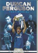 Duncan Ferguson Everton signed Testimonial programme . This item is from the stock of www.