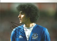 Marouane Fellaini Everton Signed 12 x 8 inch football photo. This item is from the stock of www.