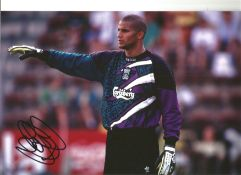 David James Liverpool Signed 12 x 8 inch football photo. This item is from the stock of www.