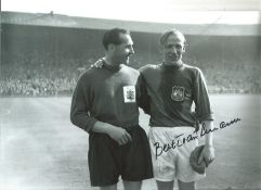 Bert Trautmann Manchester City Signed 12 x 8 inch football photo. This item is from the stock of