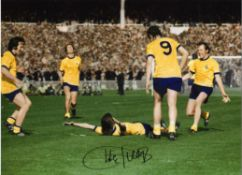 Charlie George Arsenal Signed 16 x 12 inch football photo. This item is from the stock of www.