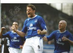 James Beattie Everton Signed 12 x 8 inch football photo. This item is from the stock of www.