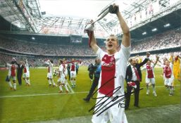 Siem de Jong Ajax Signed 12 x 8 inch football photo. This item is from the stock of www.