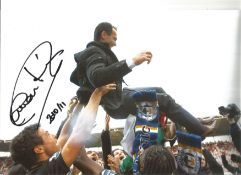 Roberto Martinez Wigan Signed 12 x 8 inch football photo. This item is from the stock of www.