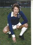 Frank Worthington Leicester City Signed 10 x 8 inch football photo. This item is from the stock of