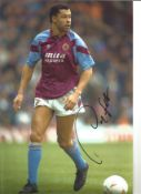 Paul McGrath Aston Villa Signed 12 x 8 inch football photo. This item is from the stock of www.