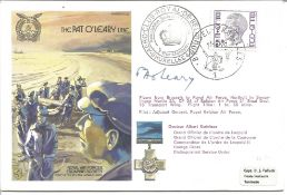 Pat O'Leary signed RAF escapers cover The Pat O'Leary Line RAFES SC22. 5F Belgium stamp postmarked