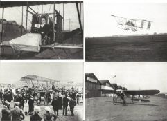Brooklands Aviation collection 8 vintage black and white BBC post cards picturing some of the