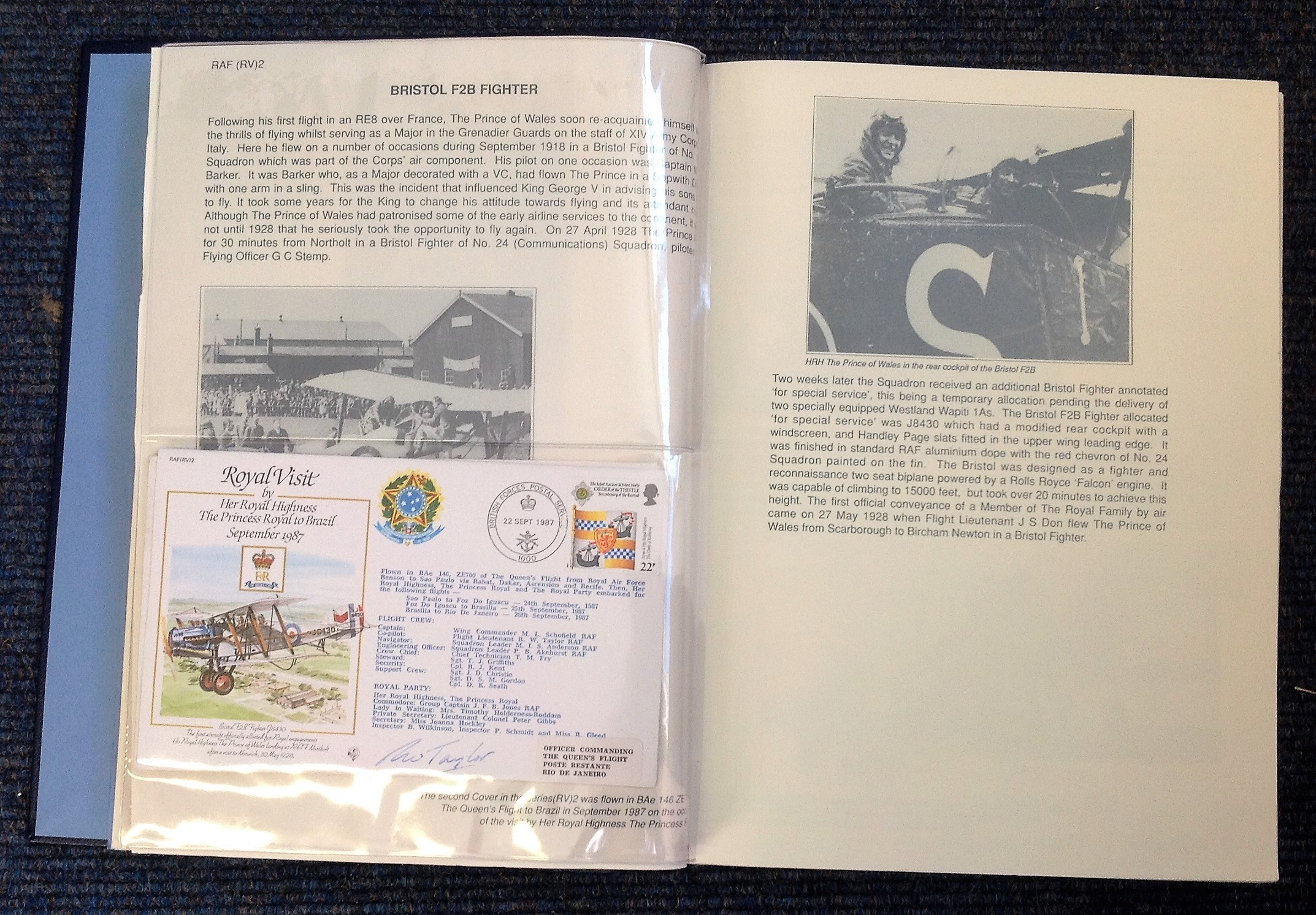 Royal Visit Queens Flight FDC collection RAF cover collection 52 pilots and VIP signed cover - Image 3 of 6