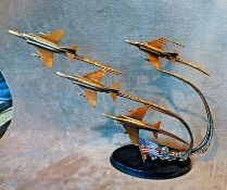 Flight of Remembrance Bronze Sculpture Franklin Mint Ltd Edition By Jim Dietz. This is a superb,