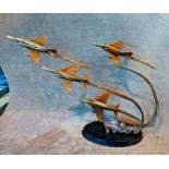 Flight of Remembrance Bronze Sculpture Franklin Mint Ltd Edition By Jim Dietz. This is a superb,