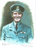 PO Terence M, Kane WW2 RAF Battle of Britain Pilot signed colour print 12 x 8 inch signed in Pencil.