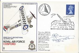 Air Vice Marshall G C Cairns signed FDC Royal Air Force Cosford First RAF Rocket Mail 3rd April 1971