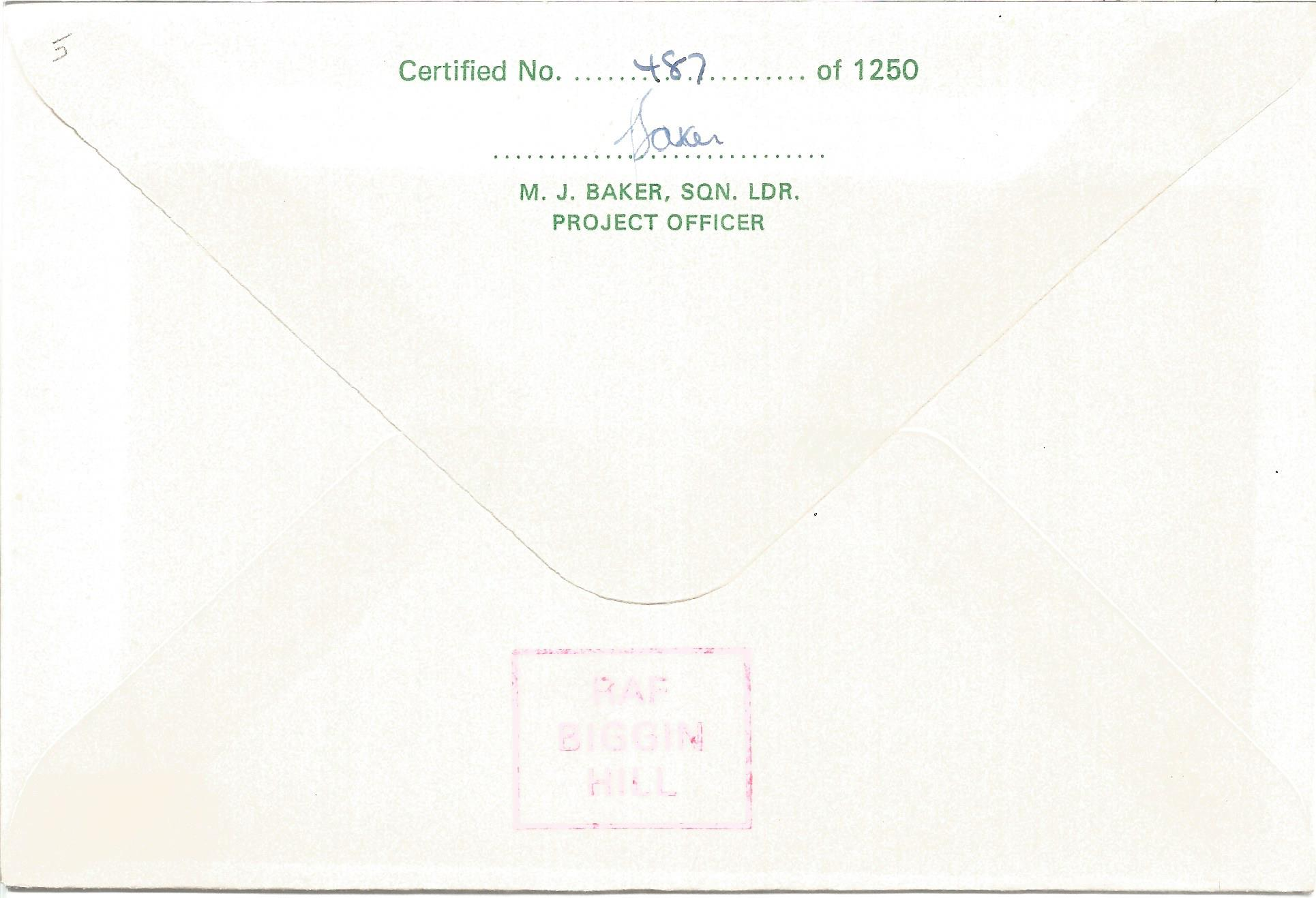 Sir Barnes Wallis CBE FRS FRAeS FRSA signed his own cover No. 487 of 1250. Flown from RAF Upper - Image 2 of 2