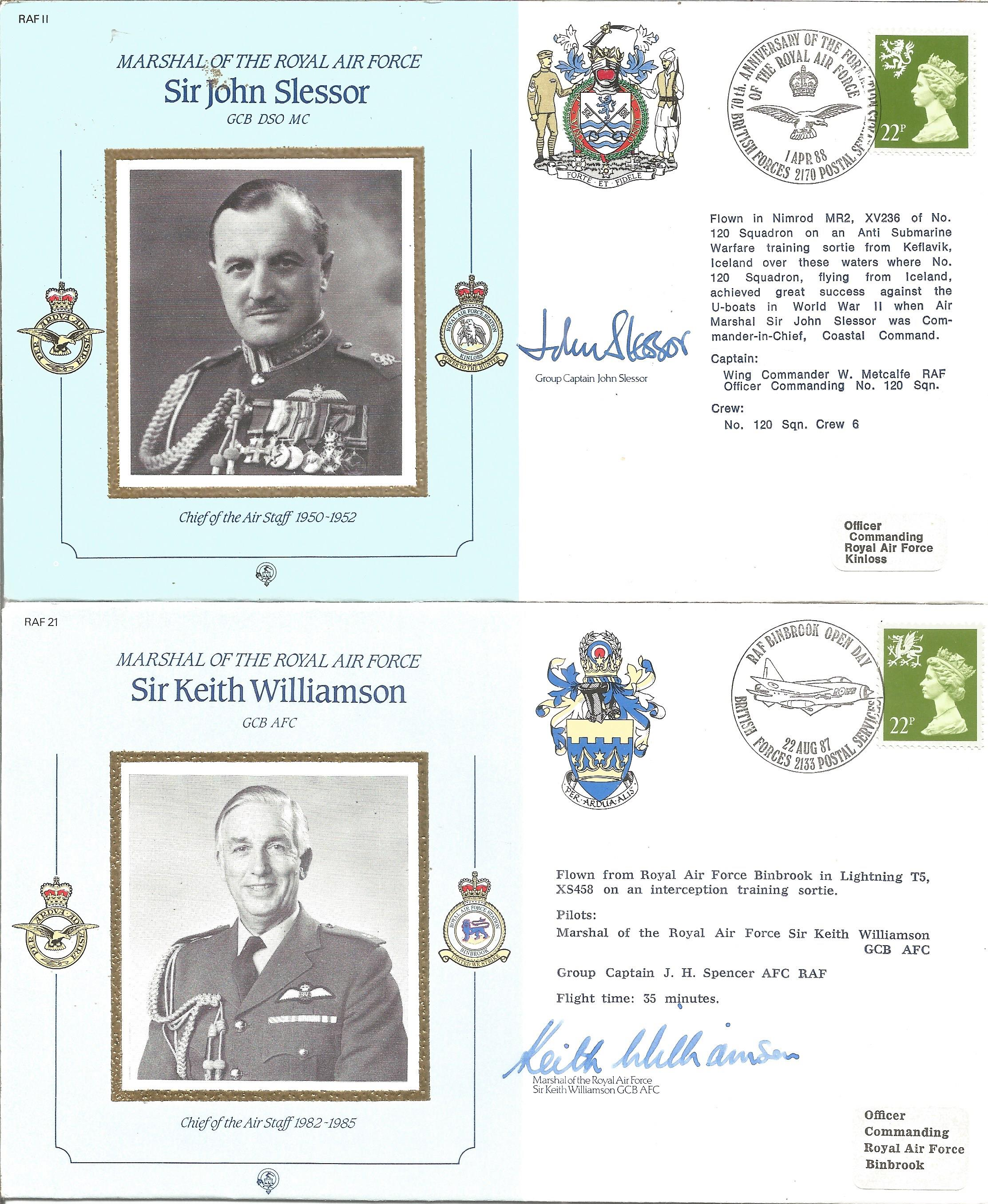 Commanders of the RAF signed collection. Nine very attractive covers comm. Marshalls of the RAF - Image 3 of 3