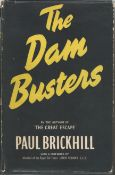 The Dambusters by Paul Brickhill UNSIGNED hardback book with dust cover 1953, 12th impression,
