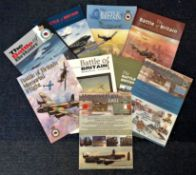 World War II Battle Britain Memorial flight collection 9 softback books dated back to 1991. Good