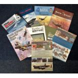 World War II Battle Britain Memorial flight collection 9 softback books dated back to 1991. Good