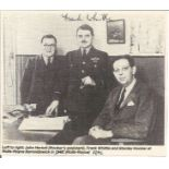 Frank Whittle signed 5 x 4 magazine cutting b w photo showing Frank Whittle with Stanley Hooker