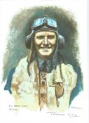 PO Terence M. Kane WW2 RAF Battle of Britain Pilot signed colour print 12 x 8 inch signed in Pencil.