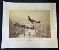 Robert Taylor Victory Salute, 24x20 Restricted Edition of 1500 print published in 1986, signed by
