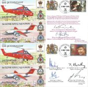 Queens Flight FDC collection RAF cover collection. Full set of five 1995 covers comm. The first