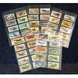 Aviation collection set of 50 vintage Brooke Bond cards picturing some of the iconic planes from