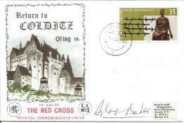 Douglas Bader signed Return to Colditz Oflag Ivc In Aid of The Red Cross Official Commemorative