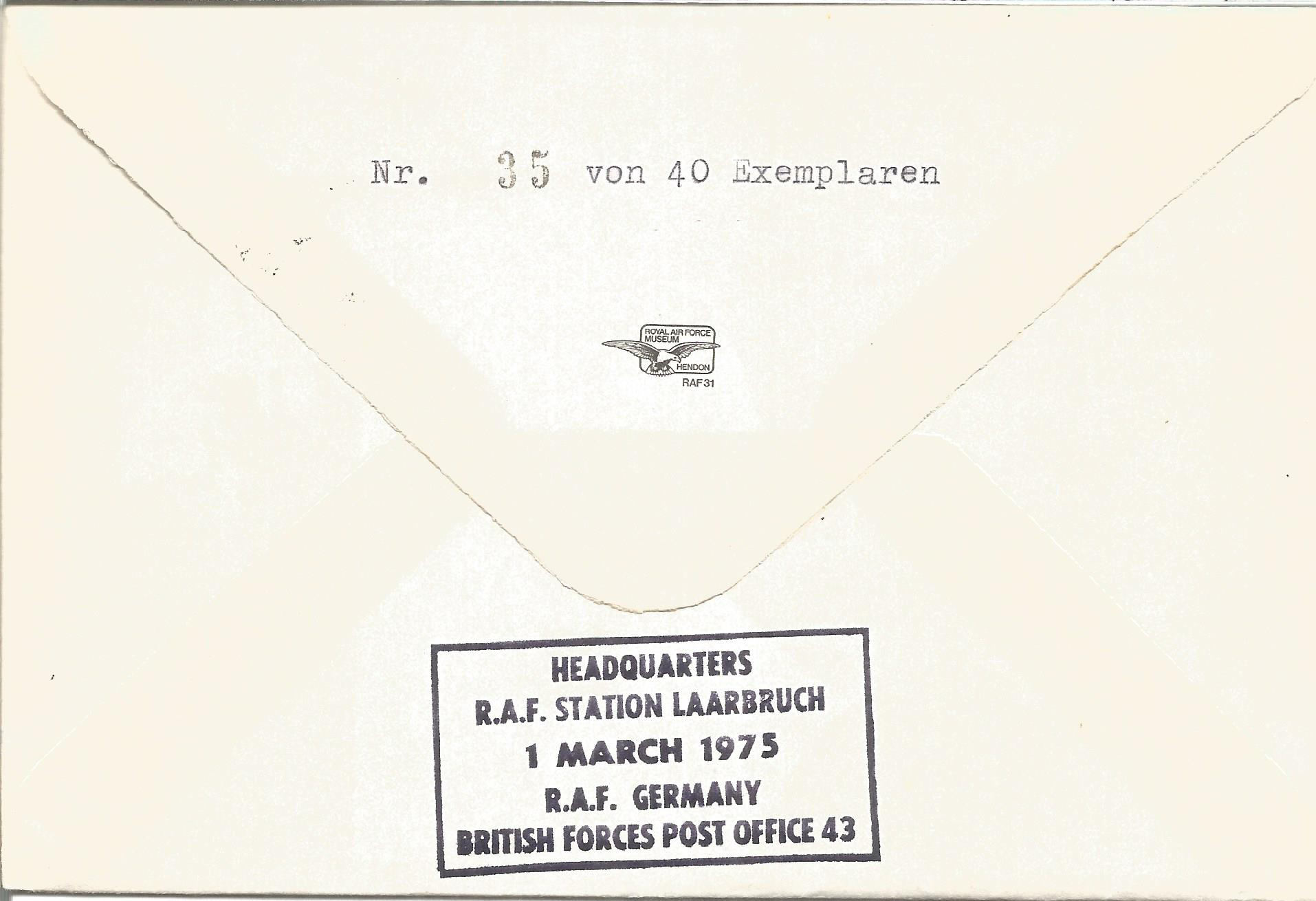 WW2 Prinz Eugen Captain Brinkmann signed No XV Squadron RAF 60th Anniversary of the Formation of the - Image 2 of 2