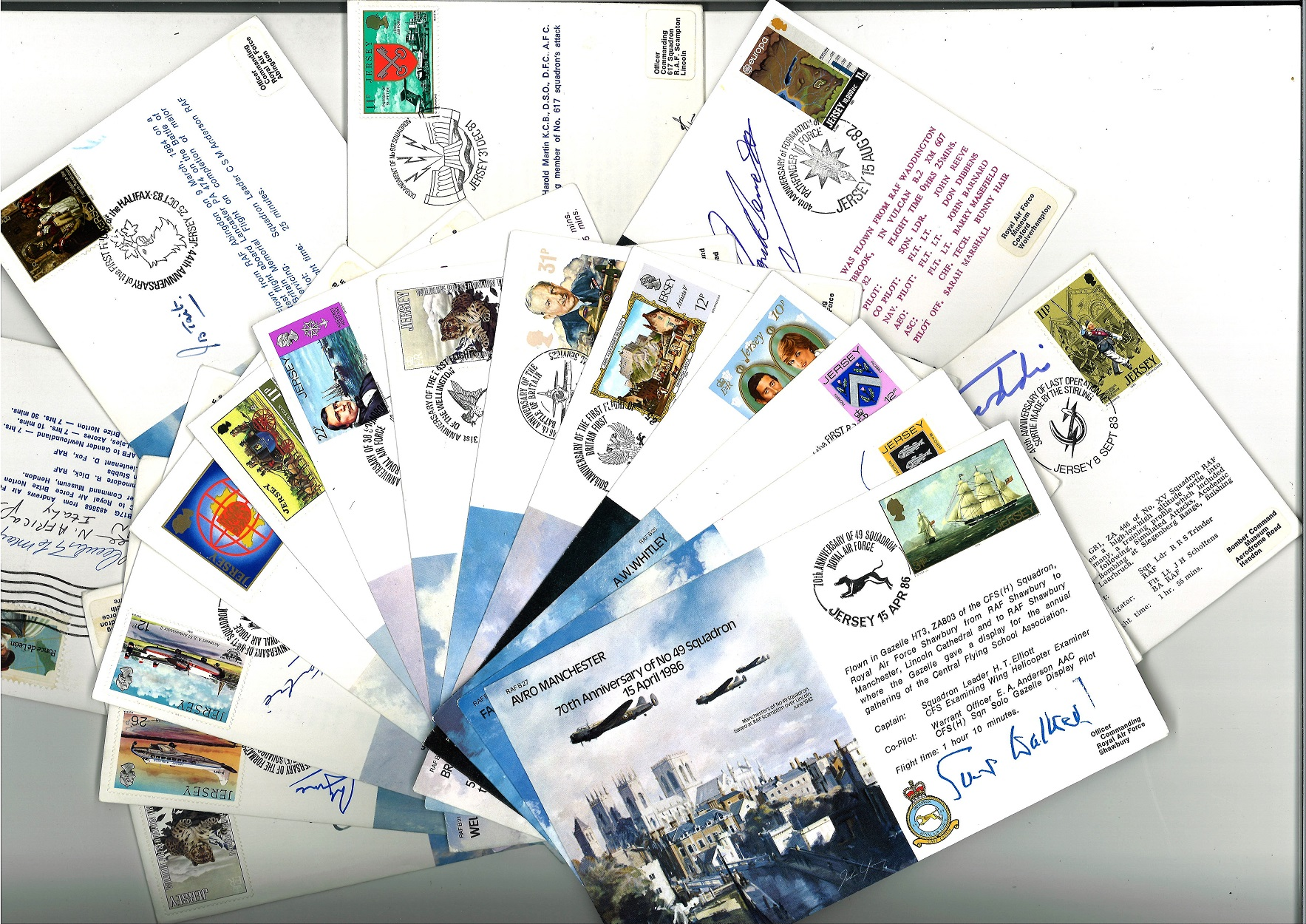 Bomber Command WW2 special Signed cover collection. A complete collection of all 45 VIP signed