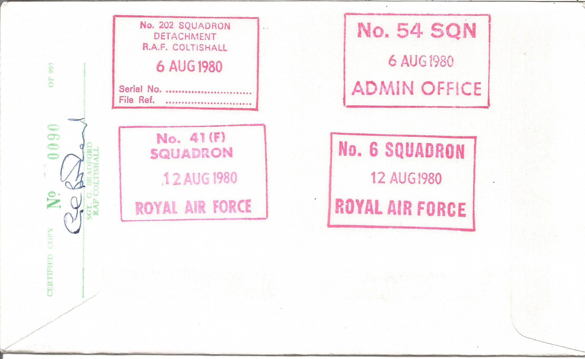 Douglas Bader signed 40th Anniversary of the Battle of Britain 1940 1980 cover No. 90 of 997. - Image 2 of 2