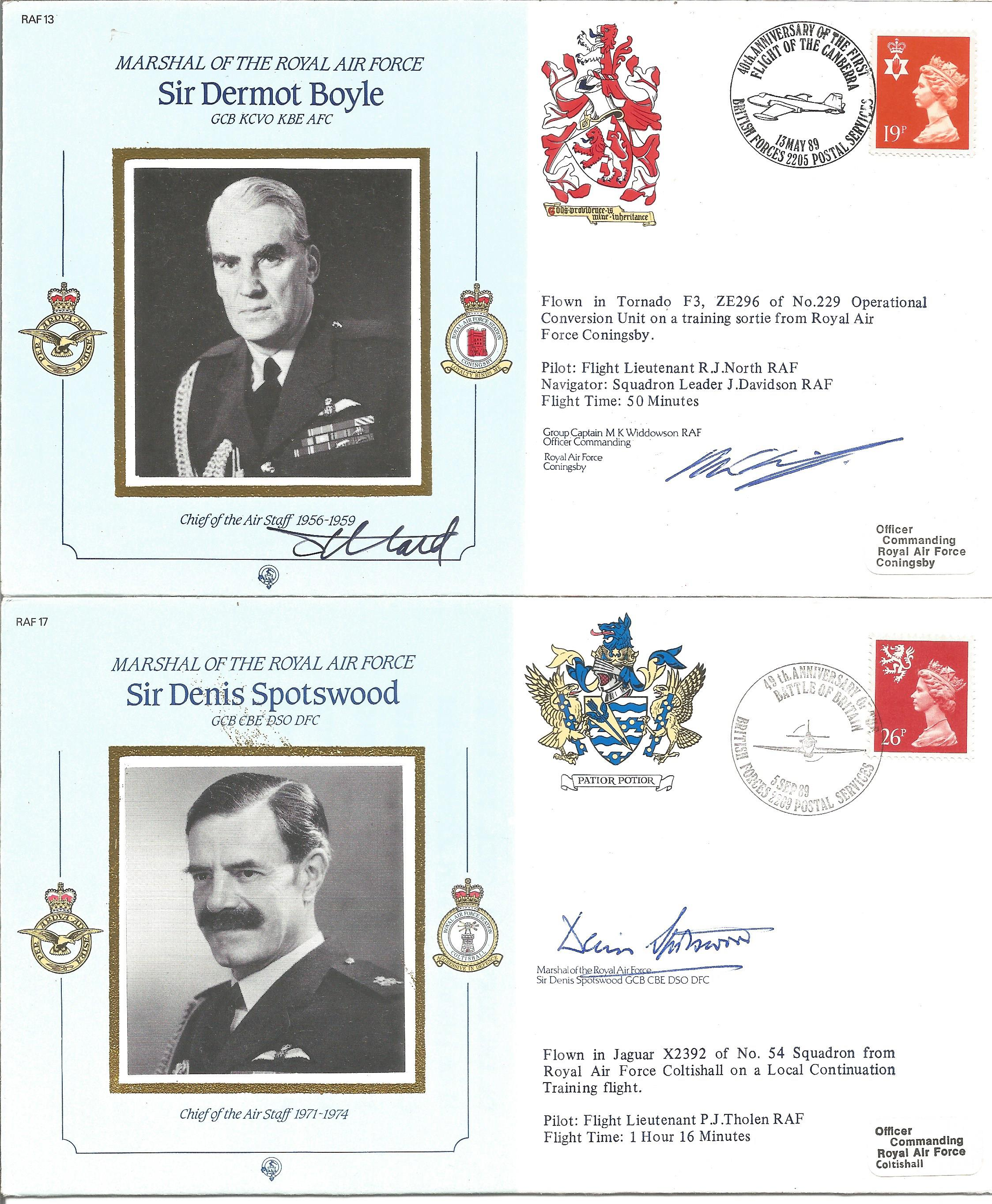 Commanders of the RAF signed collection. Nine very attractive covers comm. Marshalls of the RAF - Image 2 of 3