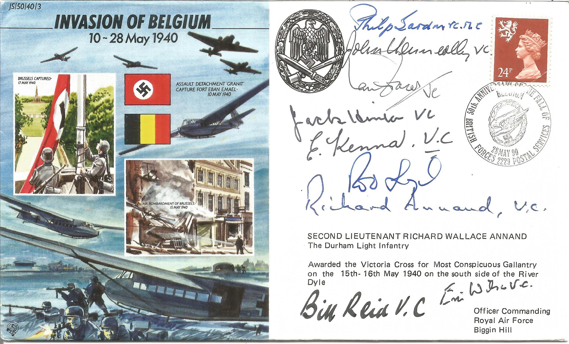 John Kenneally VC, Ian Fraser VC, Richard Annand VC, Bill Reid VC plus 5 others signed Invasion of