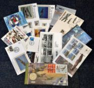RAF collection 12 interesting coin and FDCs commemorating historic dates and events from the RAF.