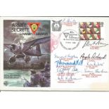 Secret Army TV series actors multiple signed RAF Escaping Society cover. Bernard Hepton, Angela