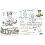Ten BOB pilots signed RAF WW2 cover. Lord Dowding Hurricane signed RAF(AC)29 RAF cover Lord