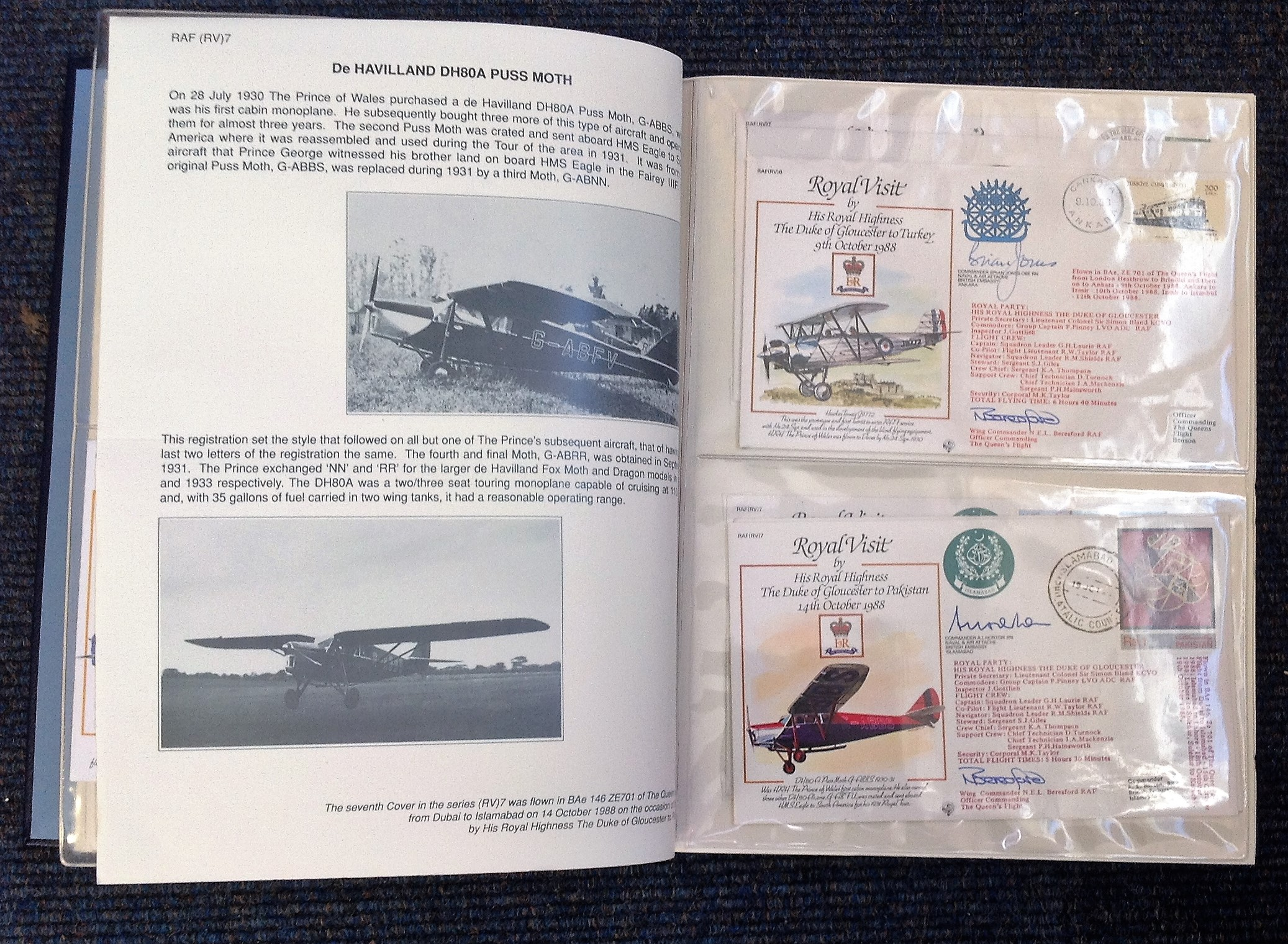 Royal Visit Queens Flight FDC collection RAF cover collection 52 pilots and VIP signed cover - Image 4 of 6