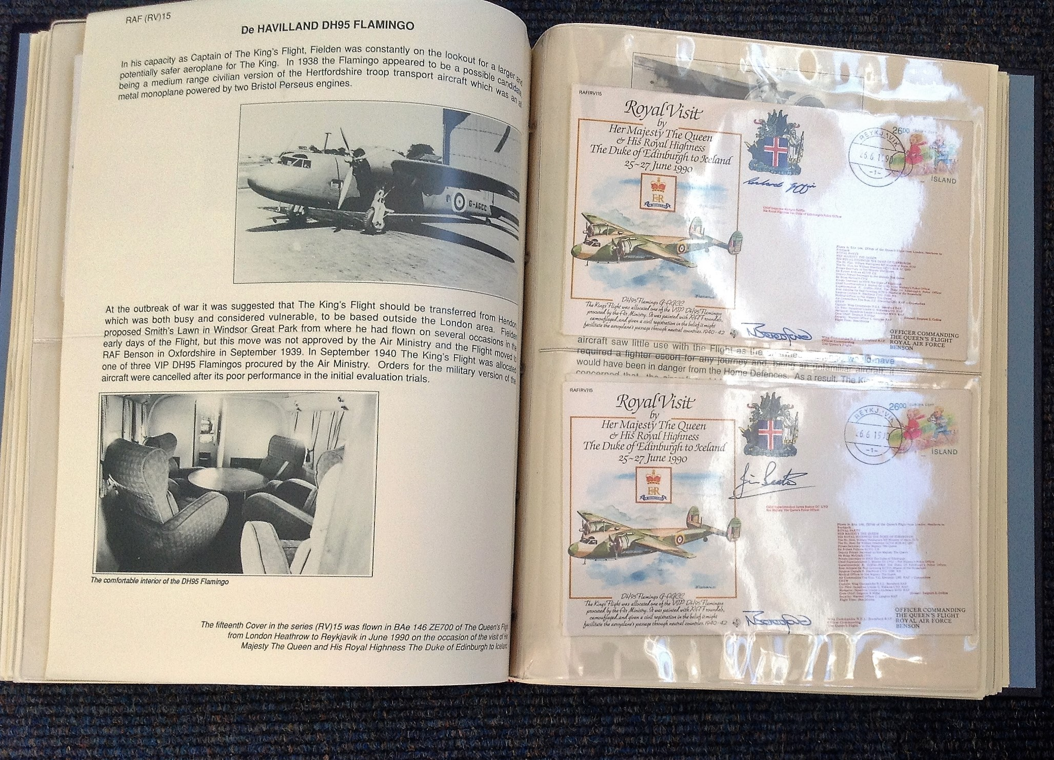 Royal Visit Queens Flight FDC collection RAF cover collection 52 pilots and VIP signed cover - Image 6 of 6
