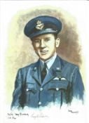 Flt Lt Tony Pickering WW2 RAF Battle of Britain Pilot signed colour print 12 x 8 inch signed in